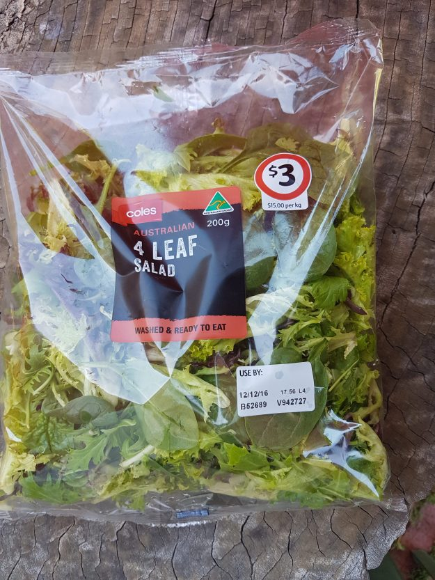 bug in salad bag