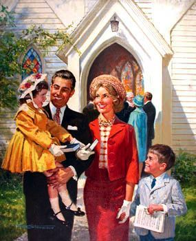 1950s Church Family
